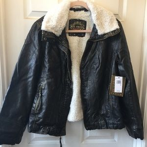 Faux Sheep Lined Jacket XL